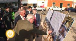 Miguel Celdrán visita las obras de conducción de aguas en San Roque