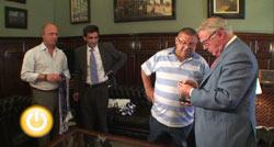 Miguel Celdrán recibe al Presidente de la Agrupación Deportiva Cerro de Reyes