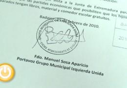 IU presenta una moción para apoyar en la escolarización a las familias en desempleo