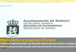 Jesús Villalba solicita un colegio para Villafranco
