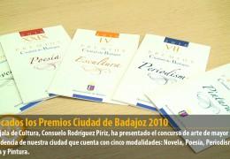 Convocados los Premios Ciudad de Badajoz 2010