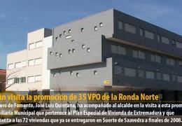 Celdrán visita la promoción de 35 VPO de la Ronda Norte