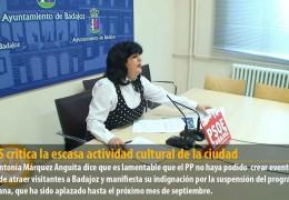 El GMS critica la escasa actividad cultural de la ciudad