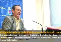 El Ayuntamiento cede cerca de 6 hectáreas a la Junta de Extremadura
