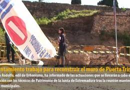 El Ayuntamiento trabaja para reconstruir el muro de Puerta Trinidad
