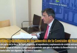 El Ayuntamiento informa de los acuerdos de la Comisión de Hacienda
