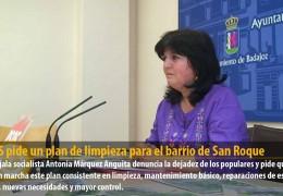 El GMS pide un plan de limpieza para el barrio de San Roque