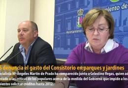 El GMS denuncia el gasto del Consistorio en parques y jardines