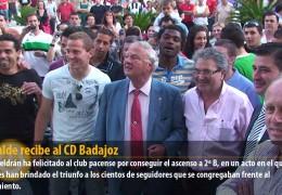 El alcalde recibe al CD Badajoz