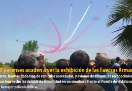 50.000 pacenses acuden a ver la exhibición de las Fuerzas Armadas