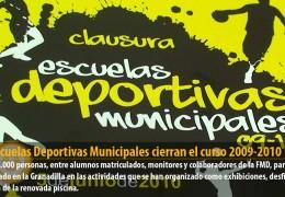Las Escuelas Deportivas Municipales cierran el curso 2009-2010
