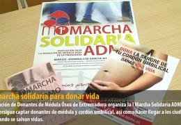 Una marcha solidaria para donar vida