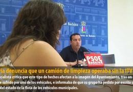 Segovia denuncia que un camión de limpieza operaba sin la ITV