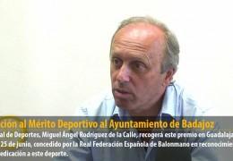 Distinción al Mérito Deportivo al Ayuntamiento de Badajoz