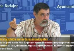 IU critica la subida en las tasas municipales