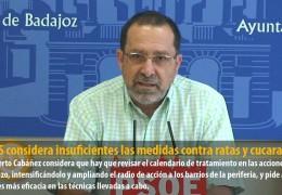 El GMS considera insuficientes las medidas contra ratas y cucarachas