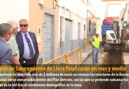 Las obras de Saneamiento de Llera finalizarán en mes y medio