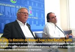 Celdrán pide la dimisión de Manuel Sosa y José Ramón Suárez