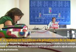 El PSOE se reafirma en las críticas a la privatización de la limpieza