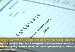 A concurso el contrato de suministro de luz y gas del Ayuntamiento