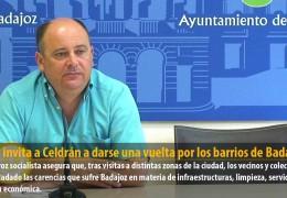 Vegas invita a Celdrán a darse una vuelta por los barrios de Badajoz