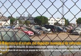 El GMS-R denuncia el estado del depósito municipal de vehículos