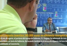 El Ayuntamiento invertirá 240.000 euros en eficiencia energética