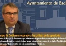 El Equipo de Gobierno responde a las críticas de la oposición