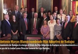 José Antonio Marcos Blanco nombrado Hijo Adoptivo de Badajoz
