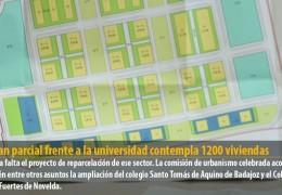 El plan parcial frente a la universidad contempla 1200 viviendas