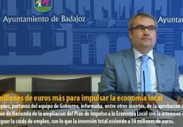 2,4 millones de euros más para impulsar la economía local