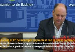 Vegas acusa al PP de incumplir su promesa con la nueva comisaría