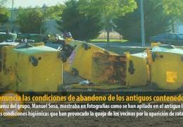 IU denuncia las condiciones de abandono de los antiguos contenedores