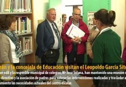 Celdrán y la concejala de Educación visitan el Leopoldo García Sito