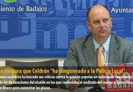 """Vegas asegura que Celdrán """"ha ninguneado a la Policía Local"""""""