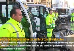 El Servicio de Limpieza refuerza su flota con 10 vehículos