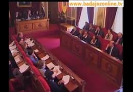 Pleno de noviembre de 2010 del Ayuntamiento de Badajoz
