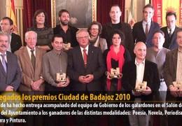 Entregados los premios Ciudad de Badajoz 2010