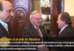 Celdrán recibe al alcalde de Albufeira