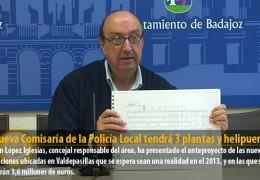 La nueva Comisaría de la Policía Local tendrá 3 plantas y helipuerto