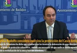 Celestino Rodolfo considera excesiva la protección del Casco Antiguo