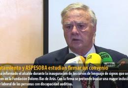 Ayuntamiento y ASPESOBA estudian firmar un convenio