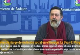 IU denuncia riesgo de exclusión social en el Gurugú, La Uva y El Progreso