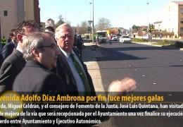 La Avenida Adolfo Díaz Ambrona por fin luce mejores galas
