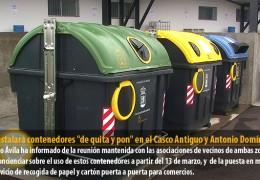 FCC instalará contenedores «de quita y pon» en el Casco Antiguo y Antonio Domínguez