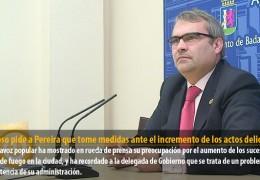 Fragoso pide a Pereira que tome medidas ante el incremento de los actos delictivos