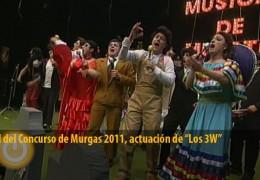 Actuación de Los 3W, murga ganadora de la edición 2011