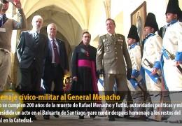 Homenaje cívico-militar al General Menacho