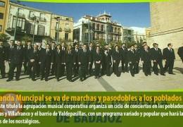 La Banda Muncipal se va de marchas y pasodobles a los poblados