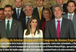 Los Príncipes de Asturias inauguran el XVI Congreso de Jóvenes Empresarios